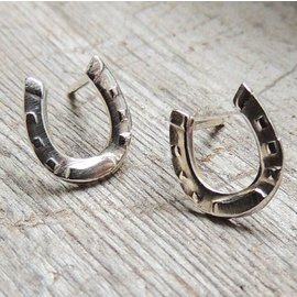 MoodiChic Jewelry Sterling Silver Horseshoe Earrings