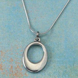Danforth Pewter Pewter Ellipse Necklace