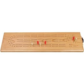 Maple Landmark Cherry Cribbage Board