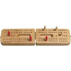 Maple Landmark Folding Cribbage