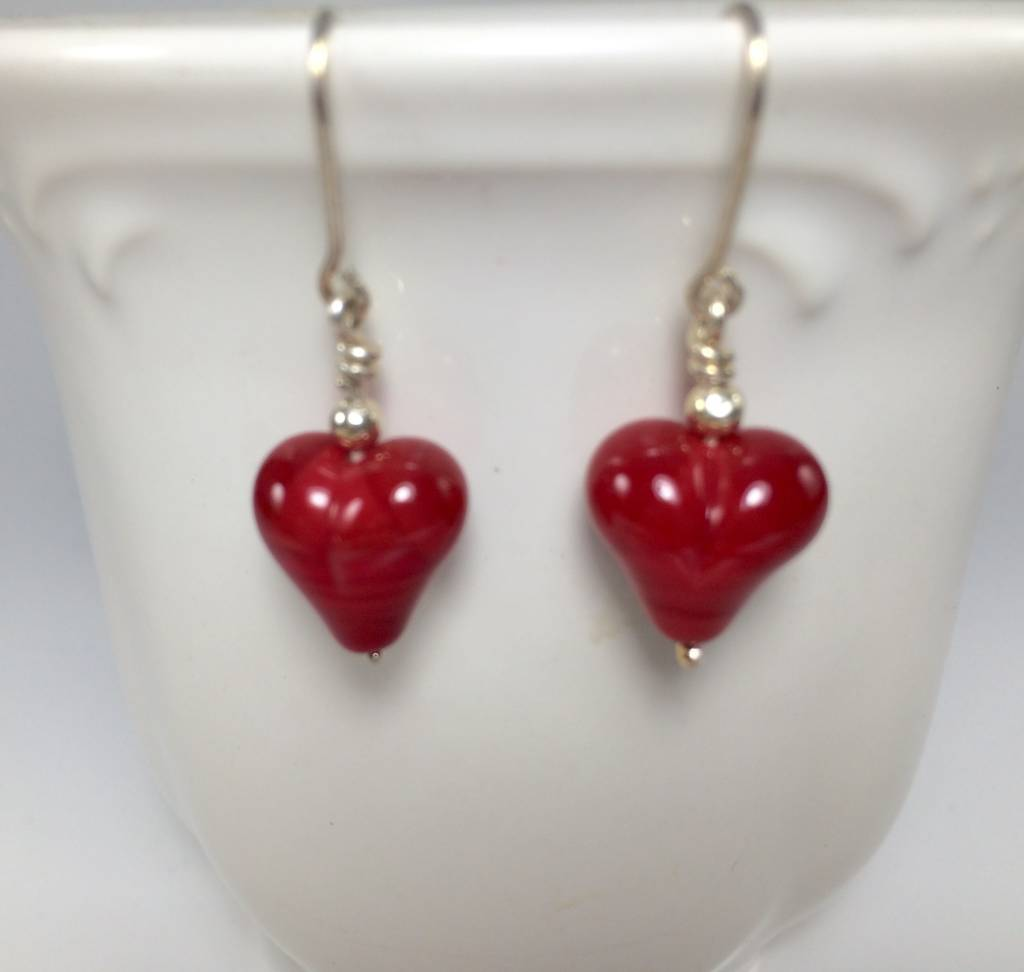 Patty Roy Jewelry Red Heart Earrings