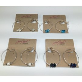 Good Gaud Designs Beaded Hoop Earrings