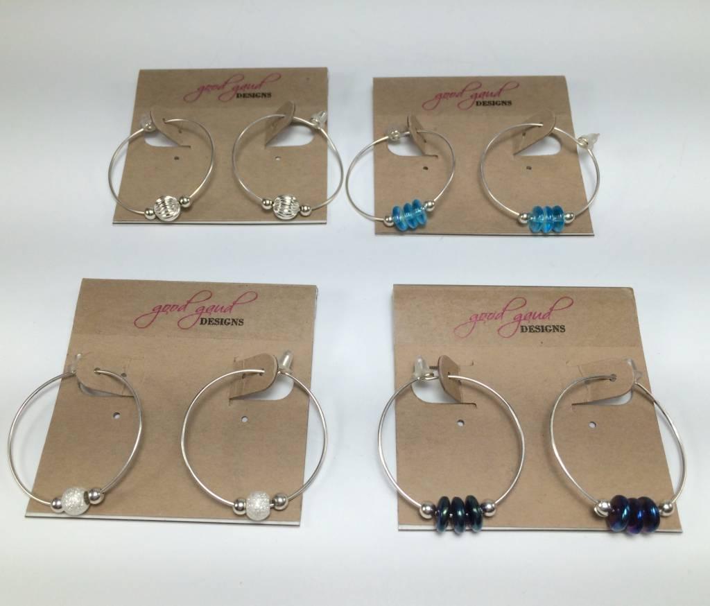 Good Gaud Designs Beaded Hoop Earrings