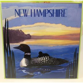 Tree-Free Greetings New Hampshire Loon Lake Magnet
