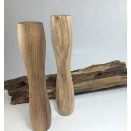 Mystic Eye Creations Zebrawood Candlestick Pair