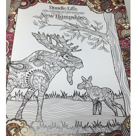 Tree-Free Greetings New Hampshire Zen Coloring Book