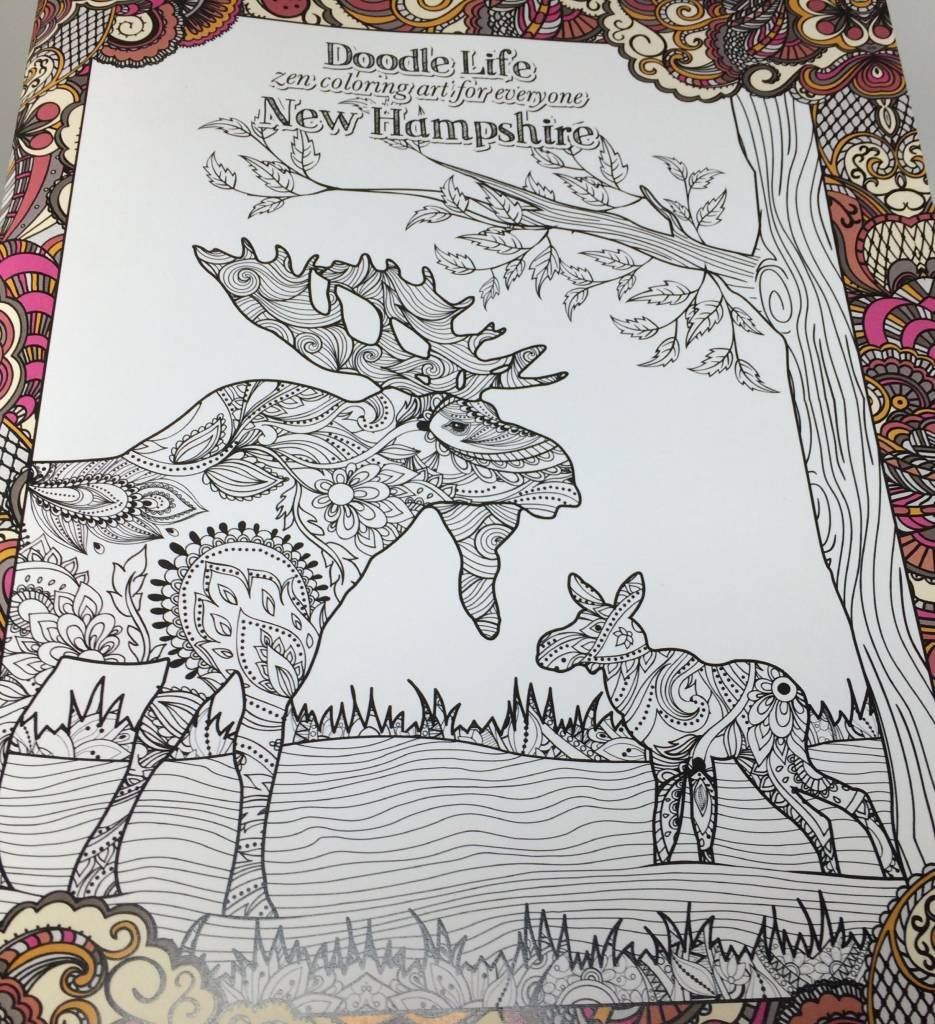 Tree Free Greetings New Hampshire Zen Coloring Book