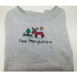DF Embroidery New Hampshire Moose Tshirt Toddler