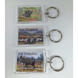 Twin Design New Hampshire Key Ring / Keychain