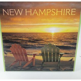 Tree-Free Greetings Adirondack Chair Sunset Magnet