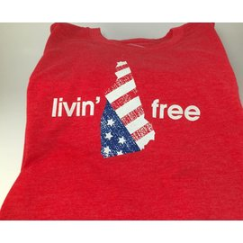Talk It Up Tees Livin' Free T-shirt