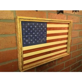 Crafts by Derek Rustic Flag Wall Sign