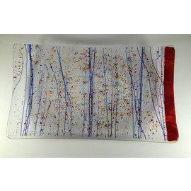 Joan Pontius Art Glass Confetti Art Fused Glass Plate