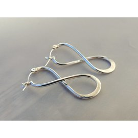 MoodiChic Jewelry Sterling Silver Infinity Hoops