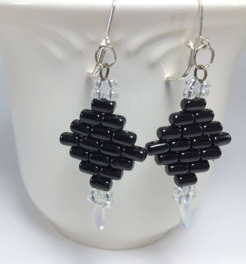 featuring jewellery jet earrings black gold artisan swarovski products beaded crystals