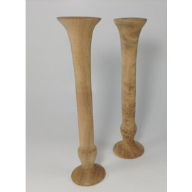 Mystic Eye Creations Oregon Myrtle Wood Candlestick Pair
