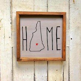 Cedar Porch Designs Framed Wood New Hampshire Home Sign