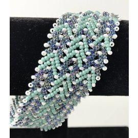 Beaded Jewelry 4 U Woven Bead Cuff Bracelet