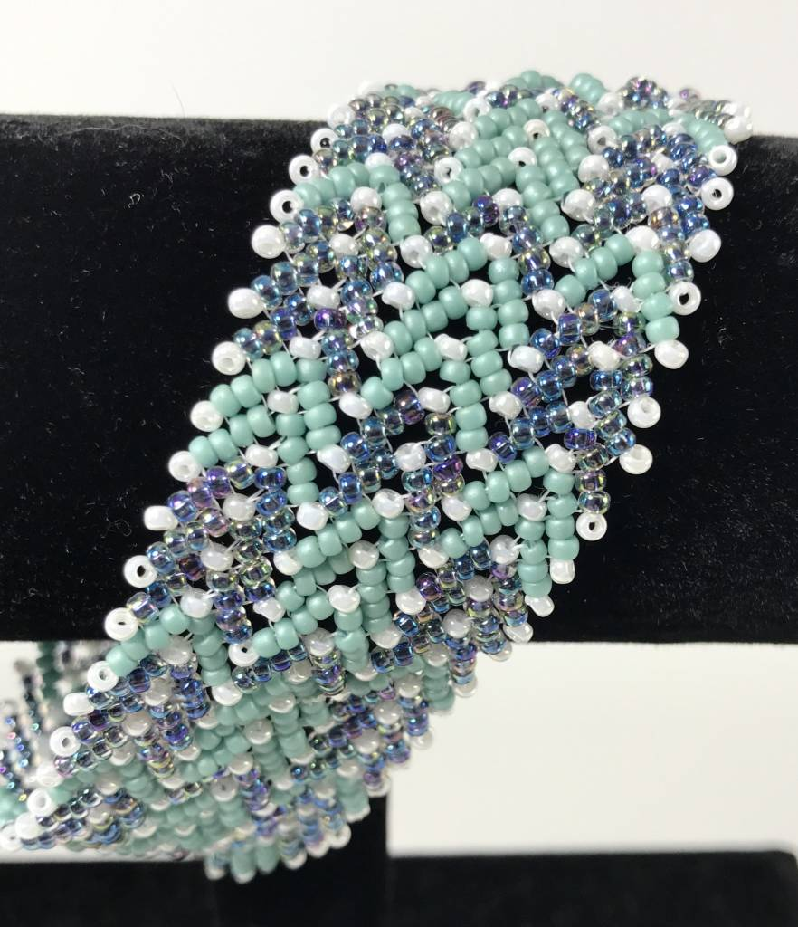 Beaded Jewelry 4 U Woven Bead Cuff Bracelet