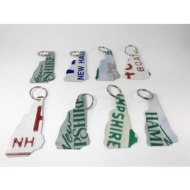 True North Traders NH Shaped License Plate Keychain