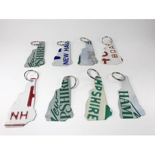 True North Traders New Hampshire License Plate Keychain / Key Ring