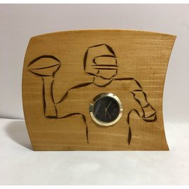 Tim Kierstead Football Themed Carved Wood Clock