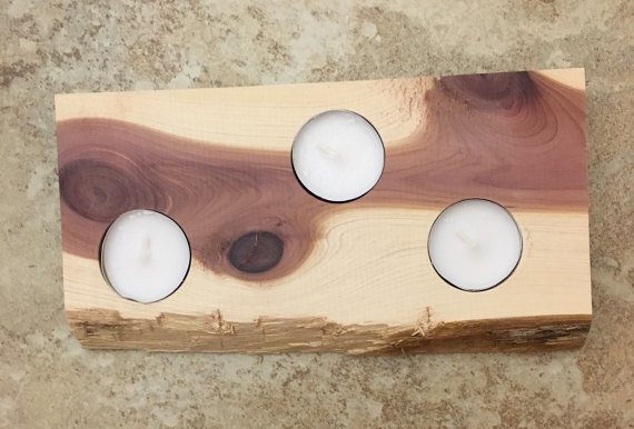 tim kierstead cedar tea light candle holder - Tea Light Candle Holders