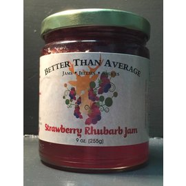 Better Than Average LLC Standard Strawberry Rhubarb Jam
