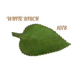 Log Cabin Leather by Jan Leather White Birch Leaf