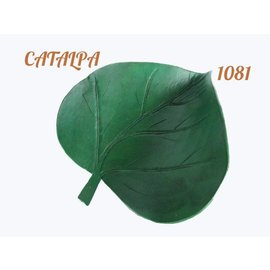 Log Cabin Leather by Jan Leather Catalpa Leaf