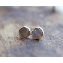 MoodiChic Jewelry Labradorite Stud Earrings -10mm