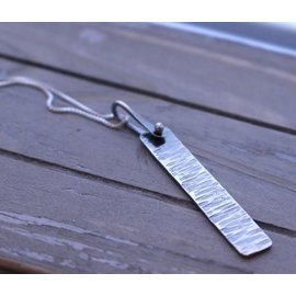 MoodiChic Jewelry Sterling Silver Bar Necklace