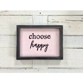 Cedar Porch Designs Framed Wood Sign - Choose Happy