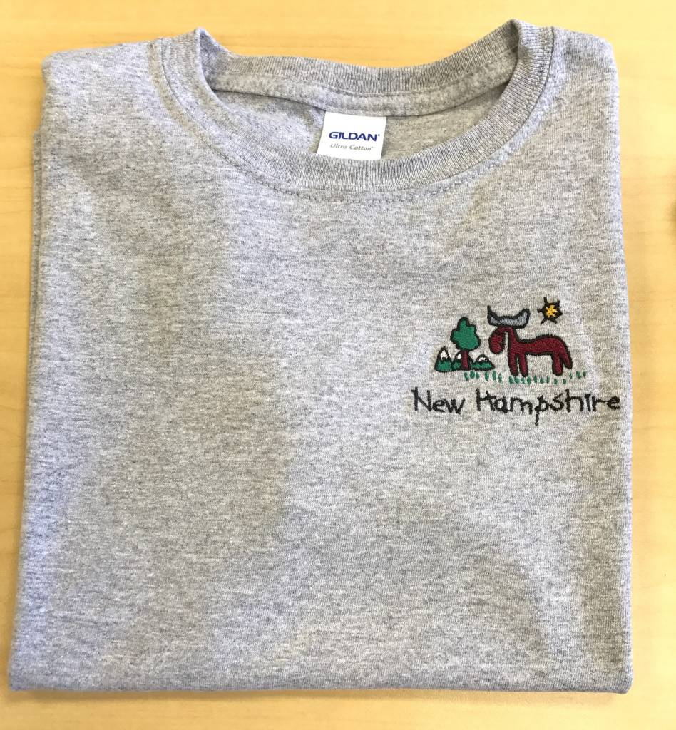 Df Embroidery New Hampshire Moose Embroidered T Shirt Youth