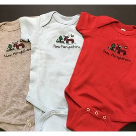 DF Embroidery New Hampshire Moose Onesie