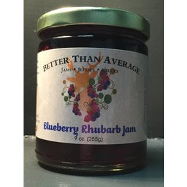 Better Than Average LLC Blueberry Rhubarb Jam