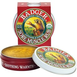 W.S. Badger Organic Sore Muscle Rub Cayenne & Ginger 2 oz