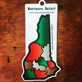 Northern Safari Design New Hampshire Decal (camo color)