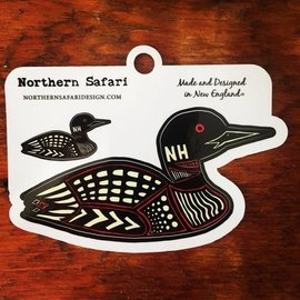 Northern Safari Design Loon Decal