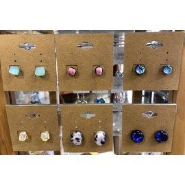 Gasho Studio Dichroic Earrings
