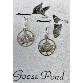 Goose Pond Maple Leaf Earrings