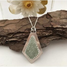 Stone on Silver Silver Adventurine Necklace