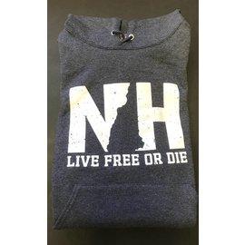 Granite State Apparel Hooded Sweatshirt NH New Hampshire Live Free or Die