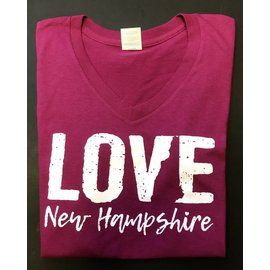 Granite State Apparel Love New Hampshire V-Neck T-shirt