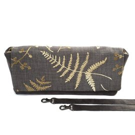 Under the Leaf Designs Clutch / Shoulder Bag - Grey Fern