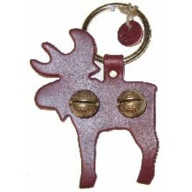 New England Bells Leather Moose with Two Bells