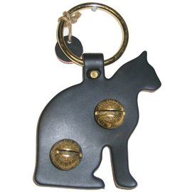 New England Bells Leather Cat with Two Bells