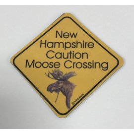 Twin Design Moose Crossing Magnet