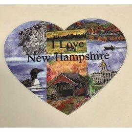 Twin Design I Love New Hampshire Magnet