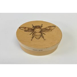 Woodburning By Gail Wooden Box - Bee